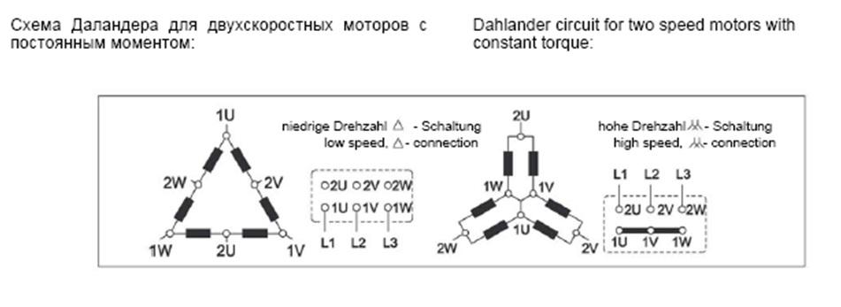 Схема электродвигателя Даландера